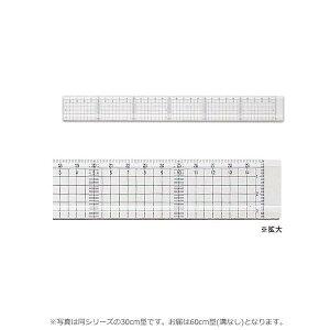 【ポイント10倍】【クーポンあり】方眼カッティング定規 60cm型 (溝なし) 014-0127