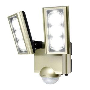 【クーポンあり】【送料無料】ELPA(エルパ) 屋外用LEDセンサーライト AC100V電源(コンセント式) ESL-ST1202AC