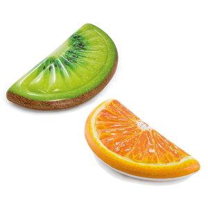 【クーポンあり】【送料無料】INTEX インテックス フロート(浮輪) 2個セット キウイスライスマット(58764)&オレンジスライスマット(58763) リアルなフルーツスライスデザイン!