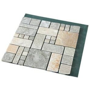 【クーポンあり】【あす楽】タイル 石畳 アプローチ 雑草が生えない天然石マット ローマ調 4枚組