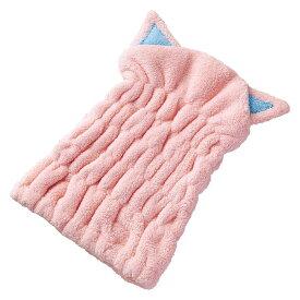 【ポイント10倍】【クーポンあり】吸水ヘアキャップ 猫 濡れた髪をすっぽりかわいく包むヘアキャップ☆