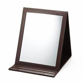 【ポイント10倍】【クーポンあり】【あす楽】鏡 かがみ ミラー 卓上 折立鏡デカミラー
