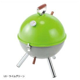 【クーポンあり】【あす楽】バーベキューグリル バーベキューコンロ BBQ BD-416 バンドック(BUNDOK) ミニグリルQ 温度計付 LG・ライムグリーン
