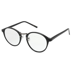 【クーポンあり】RESA レサ 老眼鏡に見えない 40代からのスマホ老眼鏡 丸メガネタイプ ブラック RS-09-2 紫外線カット ブルーライトカット カジュアル レディース ケース付き ビジネス クリア