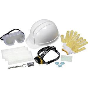 【クーポンあり】【送料無料】ヘルメット防災セット ABO-60 緊急 災害 頭 守る 地震 避難 作業 工事 顔