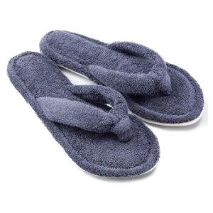 【クーポンあり】足指ほどけるタオルスリッパ ネイビー 歩行音 室内 洗濯可 静か かわいい UCHINO リラックス 静音 開放 パタパタ ふわふわ やさしい パイル