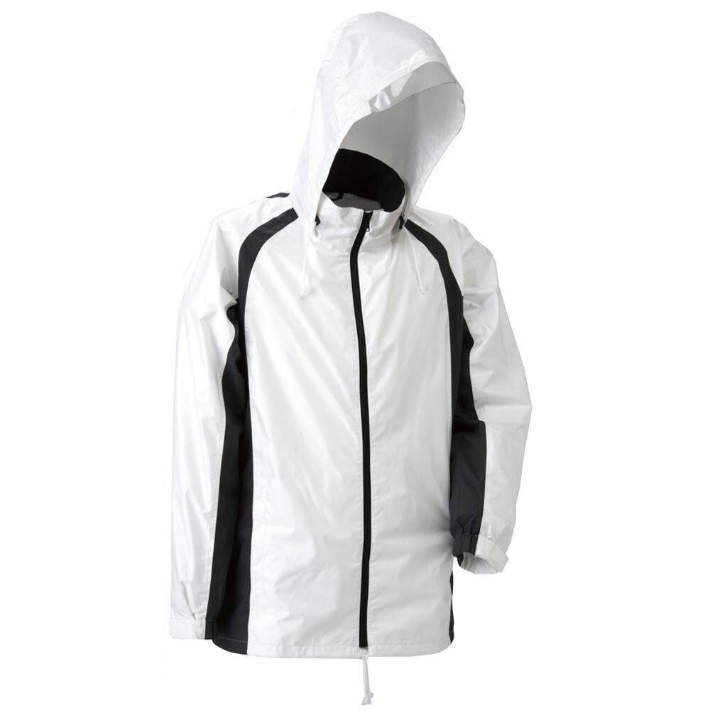 【ポイント最大4倍】【クーポンあり】【送料無料】スミクラ 透湿 ストリートシャワージャケット J-626ホワイト SS 東レの透湿素材を使用したレインジャケットです。