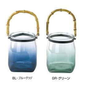 【クーポンあり】enrich バンブーハンドルガラスキャンドル用ベース Sサイズ シンプルでボリュームのあるガラスフラワーベース。