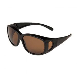 【クーポンあり】偏光オーバーサングラス ブラウン 紫外線 オーバーグラス メンズ UVカット 釣り ケース付 ゆっくり 上 レディース おしゃれ 見やすい メガネ まぶしい