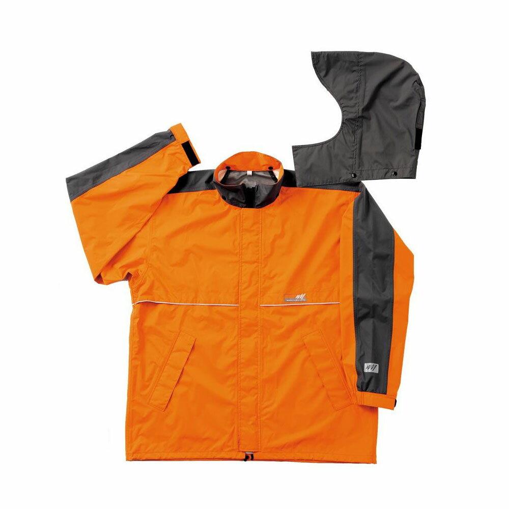 【ポイント最大4倍】【クーポンあり】【送料無料】スミクラ ワールドマーチ レインジャケット J-605WMオレンジ LL 東レの透湿素材を使用したレインウェアです。