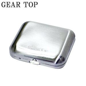 【ポイント10倍】【クーポンあり】GEAR TOP GT-100DS 携帯灰皿 ダイヤSサテーナ たばこ コンパクト 持ち運び ポータブル 吸い殻 シルバー 日本製 プレゼント シンプル おしゃれ