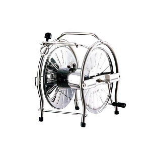 【クーポンあり】【送料無料】ステンレスホースリール(ドラム) SH-S ホース巻き取り 散水 ガーデニング 潅水用具 丈夫 用品 ステンレス製 ステンレスリール