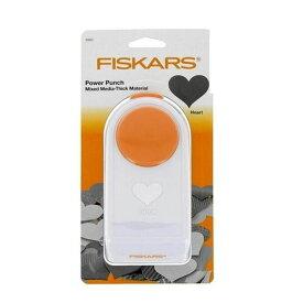 【クーポンあり】Fiskars(フィスカース) パワーパンチ L ハート 1020490(4109486) 固くて厚みのある紙やシートに最適な穴あきパンチ☆