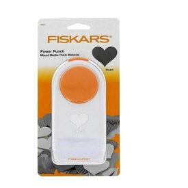 【クーポンあり】【送料無料】Fiskars(フィスカース) パワーパンチ XL ハート 1020494(4109489) 固くて厚みのある紙やシートに最適な穴あきパンチ☆