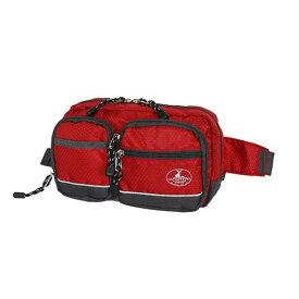 【クーポンあり】CAPTAIN STAG 2WAYウエストバッグ レッド 01212 普段使いや旅行などのサブバッグに。