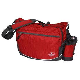 【クーポンあり】CAPTAIN STAG ショルダーバッグ レッド 01213 普段使いや旅行などのサブバッグに。