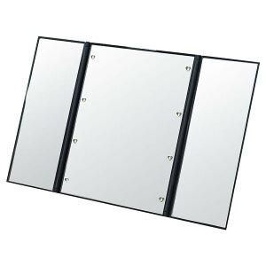 【クーポンあり】LEDメイクアップ三面鏡 コンパクト 卓上ミラー 折りたたみ メイクミラー 8灯 スタンドミラー 角度自由調整 化粧鏡 軽量 LEDライト付き