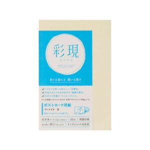 【クーポンあり】彩現 ポストカード用紙 マーメイド 白 50枚 1742193