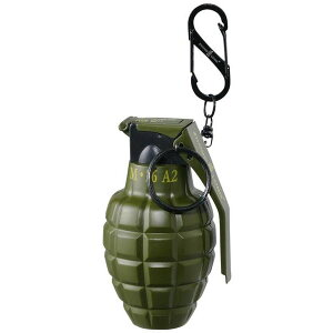【クーポンあり】グレネード型ターボライター カーキ 71390022 ユニーク 注入式 ミリタリー おしゃれ ガスボンベ アウトドア リュック 手榴弾 爆弾 カラビナ