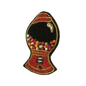 【クーポンあり】ザリ刺繍ブローチ ガムボールマシン M21-1117