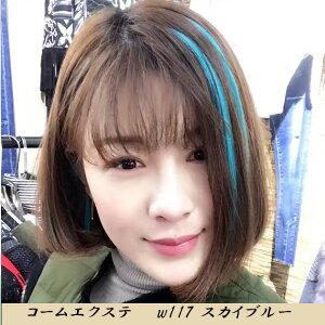 コーム付ワンタッチエクステ人毛、新作人毛カラー22cm(6本入)w117【エクステワンタッチ人毛メッシュ】