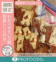 【プロフーズ手づくりキット】抱っこぐまクッキー[プレーン・ココア各20個]