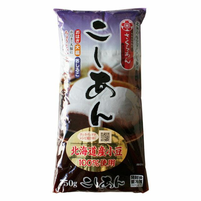 《谷尾食糧さくらあん》北海道小豆使用こしあん【750g】