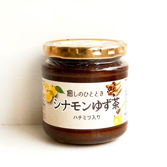 《徳山物産》シナモンゆず茶 ハチミツ入り【290g】