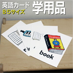 フラッシュカード えらべる 英語 カード【学用品】■B5 ラミネート加工■