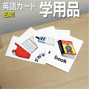 フラッシュカード えらべる 英語 カード【学用品】■名刺 ラミネート加工■