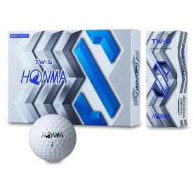 【あす楽対応】ホンマ HONMA ゴルフ ボール TW-S 日本正規品 スピン TOURWORLD ホワイト イエロー