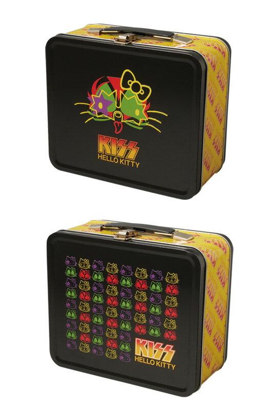 KISS × HELLO KITTY シリーズ ブリキ缶ランチボックス