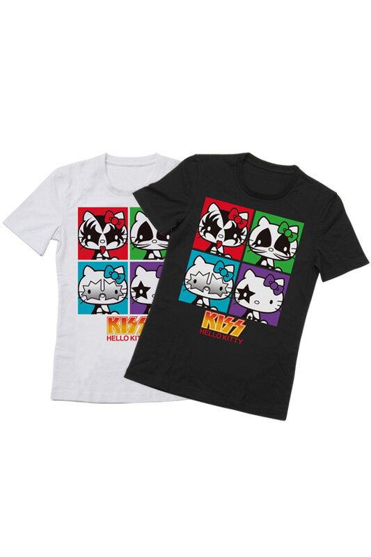 KISS × HELLO KITTYシリーズ Tシャツ スクエア(メンズ)