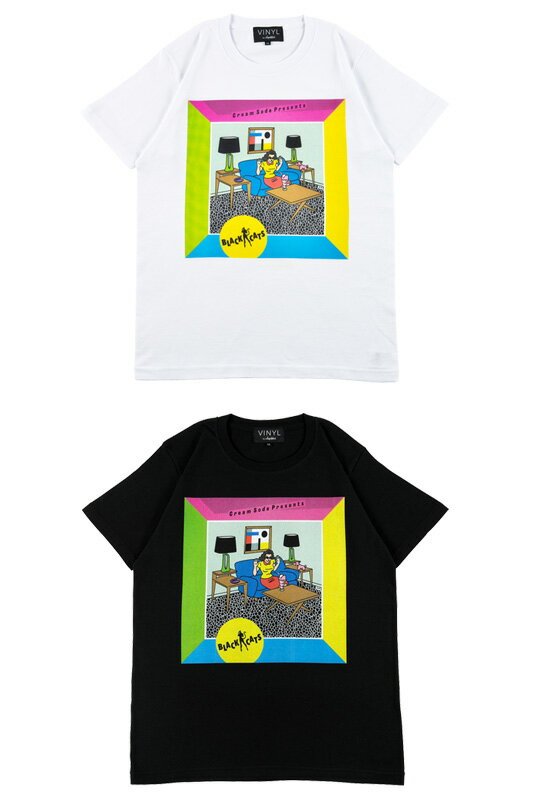 "VINYL ""BLACK CATS"" TEE CREAM-SODA PRESENTS"