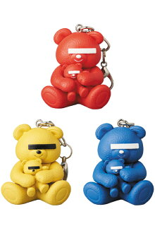 KEYCHAINUNDERCOVERBEARRED/YELLOW/BLUE