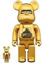 BE@RBRICK XLARGE(R) × HAJIME SORAYAMA 100% & 400% GOLD