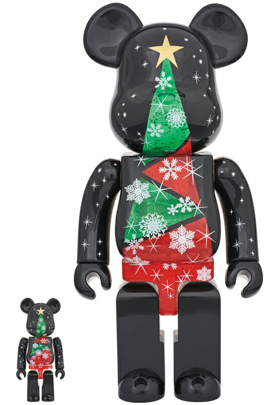 2017 Xmas BE@RBRICK 100% & 400%セット Stained-glass tree Ver.2