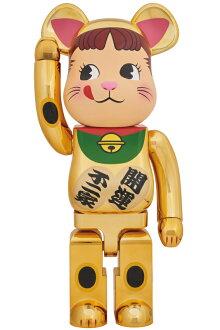 BE@RBRICK招き猫ペコちゃん金メッキ1000%