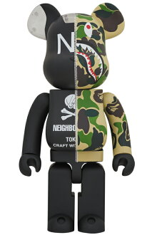 ABATHINGAPE(R)×NEIGHBORHOOD(R)BE@RBRICK1000%
