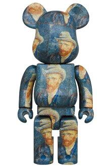 BE@RBRICK「VanGoghMuseum」Self-PortraitwithGreyFeltHat1000%《2020年12月発売・発送予定》