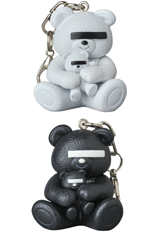 KEYCHAIN UNDERCOVER BEAR WHITE/BLACK