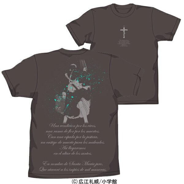 【送料無料対象商品】コスパ ブラックラグーン ロベルタ Tシャツ チャコール 【ネコポス/DM便対応】