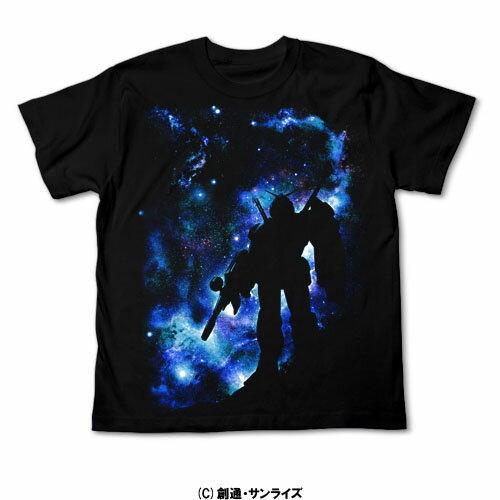 【送料無料対象商品】コスパ 機動戦士ガンダム 星空のガンダム Tシャツ ブラック 【ネコポス/DM便対応】