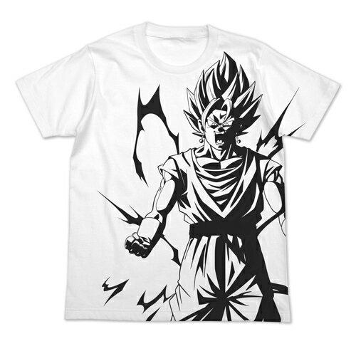 【送料無料対象商品】コスパ ドラゴンボールZ ベジット オールプリントTシャツ WHITE【ネコポス/DM便対応】【2019年1月再販予定 予約商品】