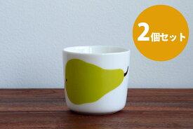 ■【2個セット】マリメッコ コーヒーカップ 200ml 取っ手なし パーリナ / marimekko Paaryna ※