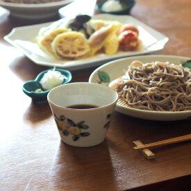 九谷青窯 堀畑蘭 色絵桃の木 蕎麦猪口