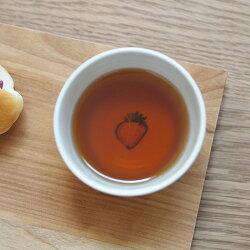 堀畑蘭色絵いちご蕎麦猪口