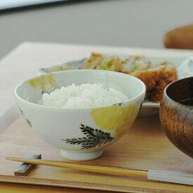 九谷青窯 横井佳乃 色絵ミモザ 飯碗