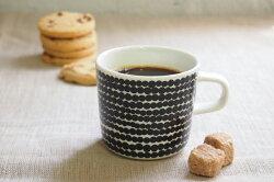 マリメッコ(marimekko)コーヒーカップ200mlSiirtolapuutarha(市民菜園/Rasymatto)ブラック