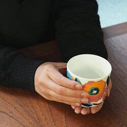 【4/1限定P5倍】【取扱終了0325】マリメッココーヒーカップ200ml取っ手なしロサリウム/marimekkoRosarium※
